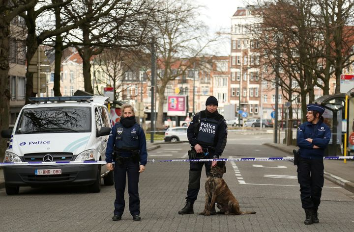 Saidi grew up in Schaerbeek, pictured above on Friday, where at least one of the Brussels attackers was from and authorities