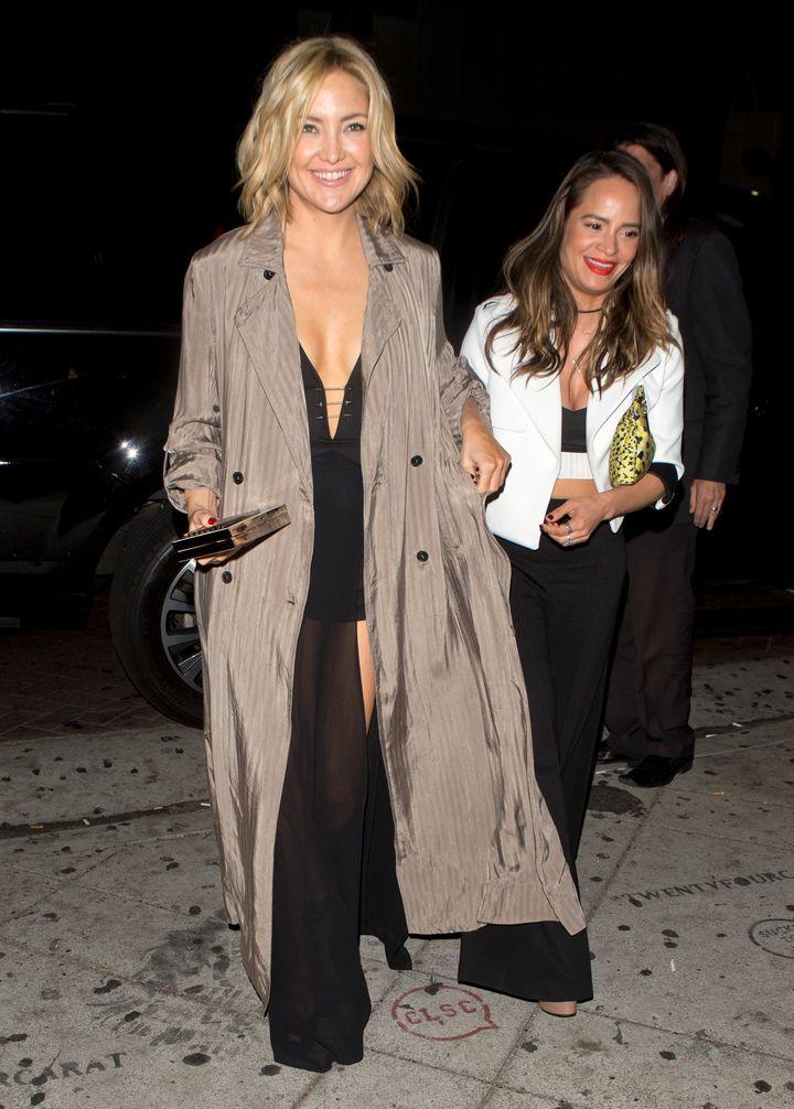 Kate Hudson arrives atLady Gaga's' birthday party.