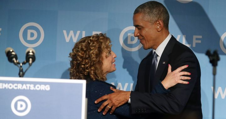 """President Barack Obama endorsedRep. Debbie Wasserman Schultz, calling her """"a strong, progressive leader."""""""