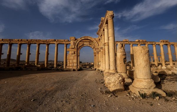A view of the Great Colonnade in Palmyra.
