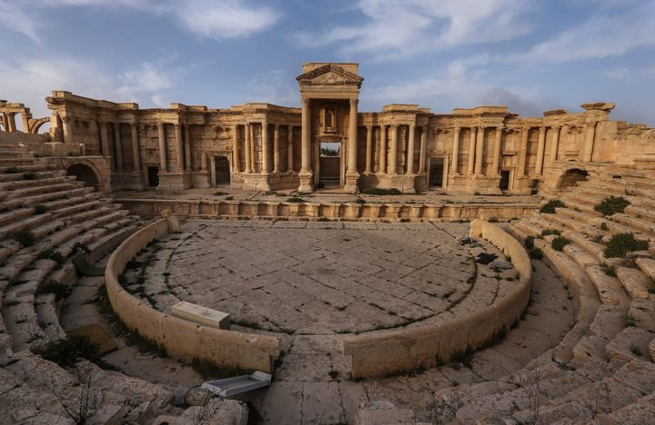 Islamic State militants claimed to usePalmyra's ancient Roman Theater, pictured here on Sunday, to stage public executi