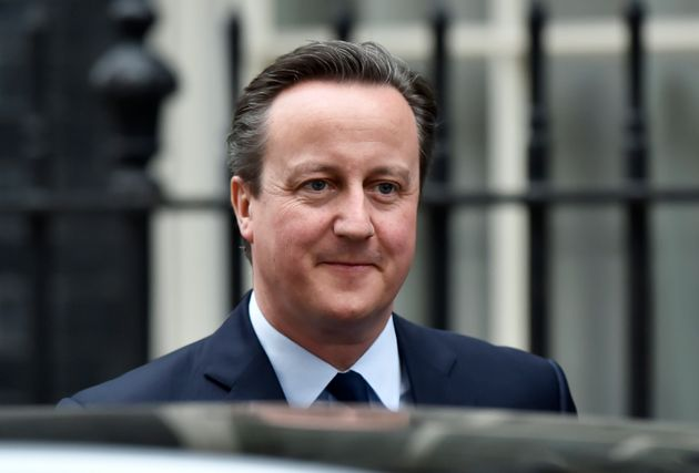 British Prime Minister David Cameron leaves Downing Street, London, Britain, 21 March,