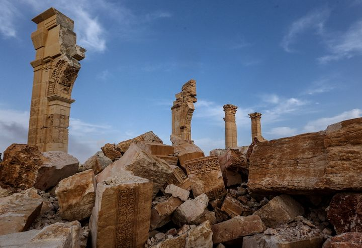 Islamic State assailants grabbed control of Palmyra in May 2015 destroying many of the city's monuments, including the Arch o