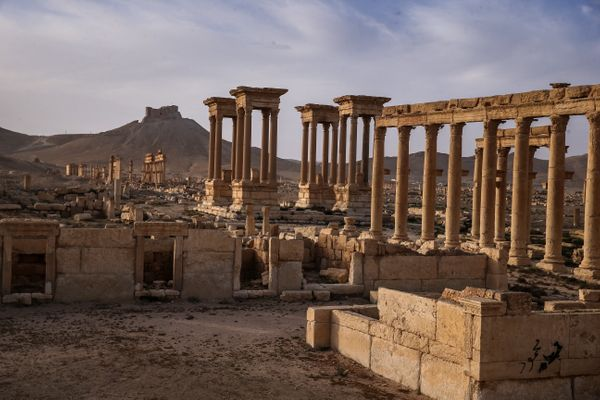 Here's anothergeneral view of Palmyra's ruins.