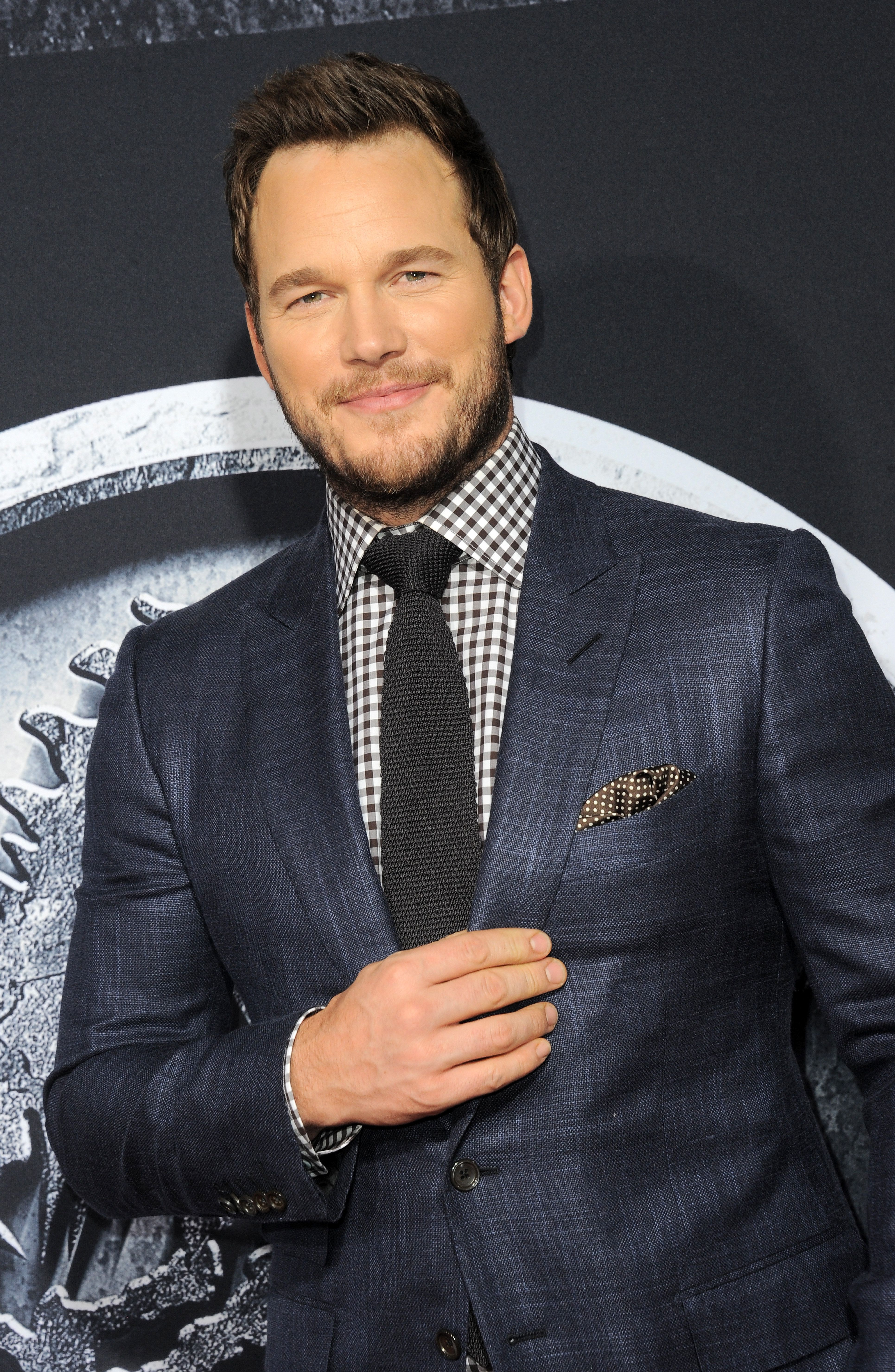 Chris Pratt arrives for the premiere Of Universal Pictures' 'Jurassic World' in Hollywood in 2015.