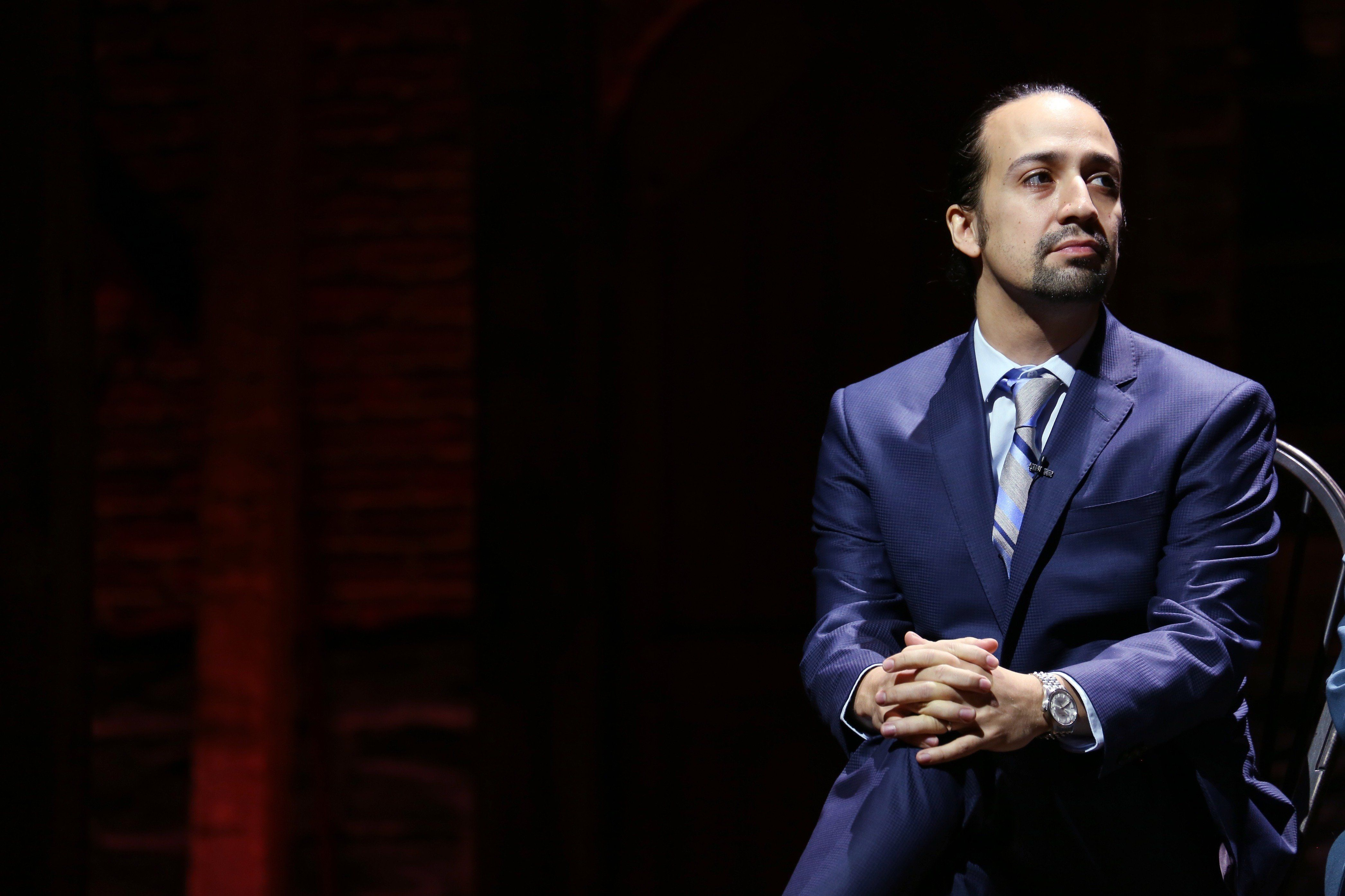 NEW YORK, NY - OCTOBER 27:  'Hamilton' creator Lin-Manuel Miranda  attends the press conference announcing 'Hamilton: The Musical' and the Rockefeller Foundation partnership to provide 20,000 NYC Public School students with tickets to 'Hamilton' on Broadway with $1.46 Million Grant at Richard Rodgers Theatre on October 27, 2015 in New York City.  (Photo by Walter McBride/WireImage)