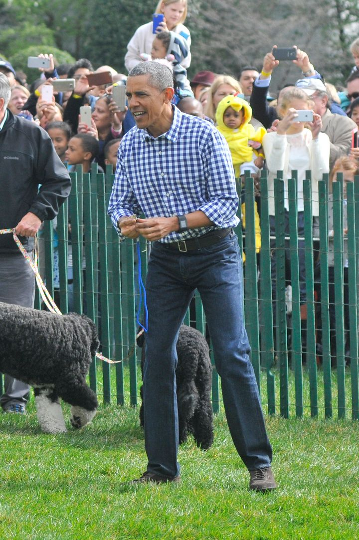 President Obamagets in on the action.