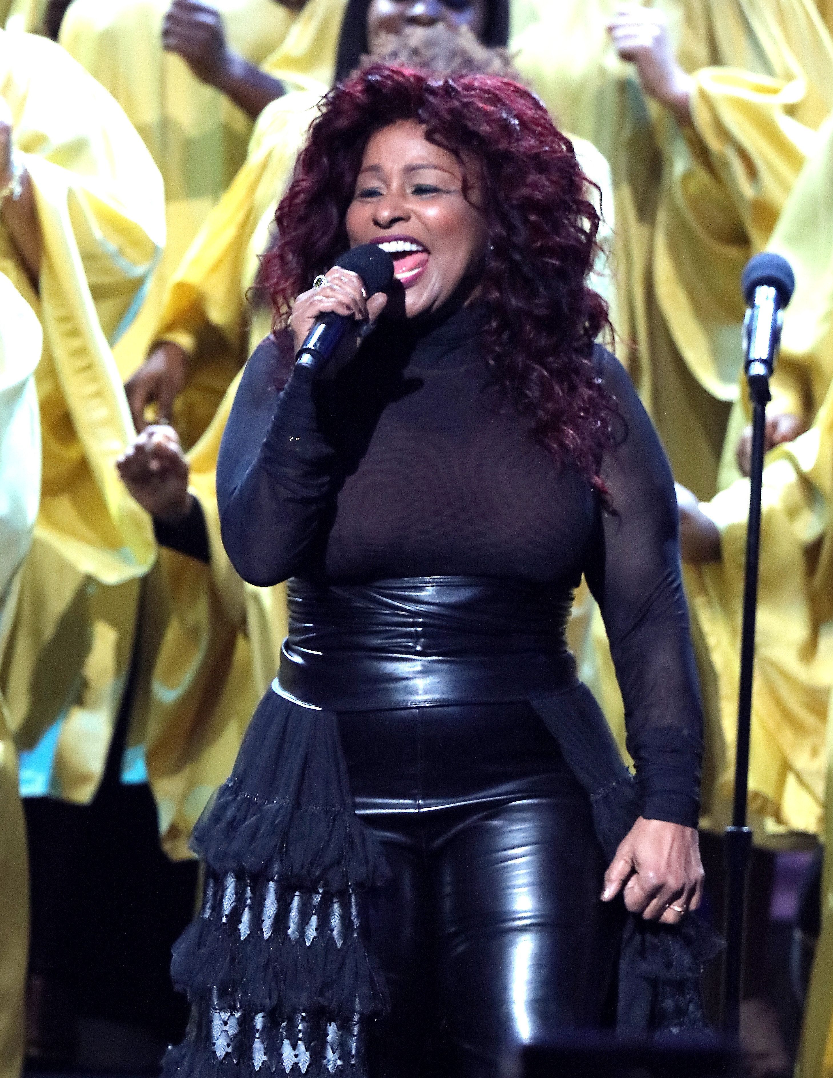 LOS ANGELES, CA - JANUARY 09:  Singer-songwriter Chaka Khan performs onstage during BET Celebration Of Gospel 2016 at Orpheum Theatre on January 9, 2016 in Los Angeles, California.  (Photo by Mark Davis/BET/Getty Images for BET)