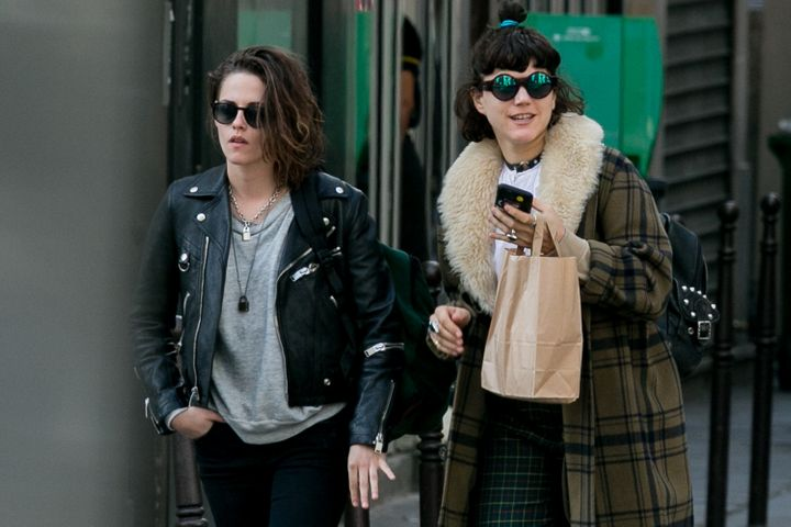 Actress Kristen Stewart and Stephanie Sokolinski, aka SoKo, are seen strolling on March 15, 2016 in Paris, France.