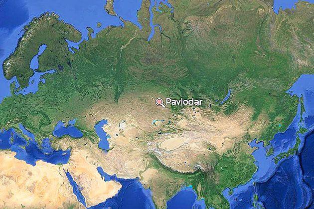 A map ofPavlodar,