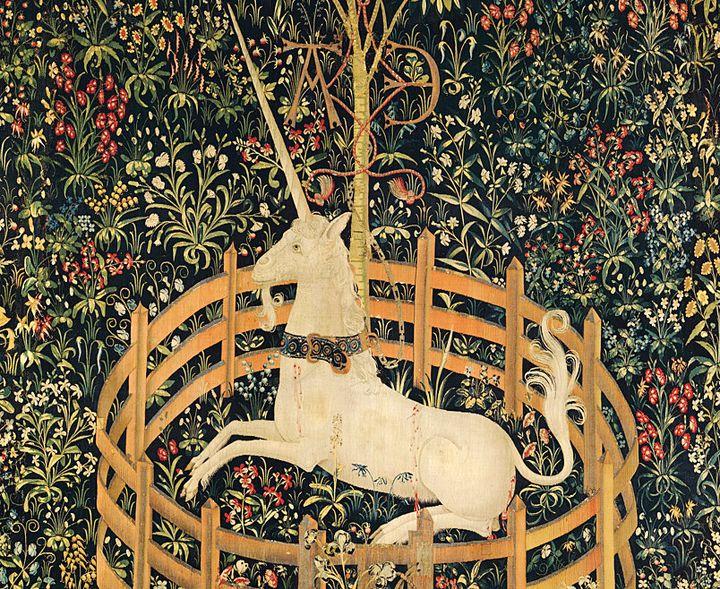 An illustration of a fictional unicorn.