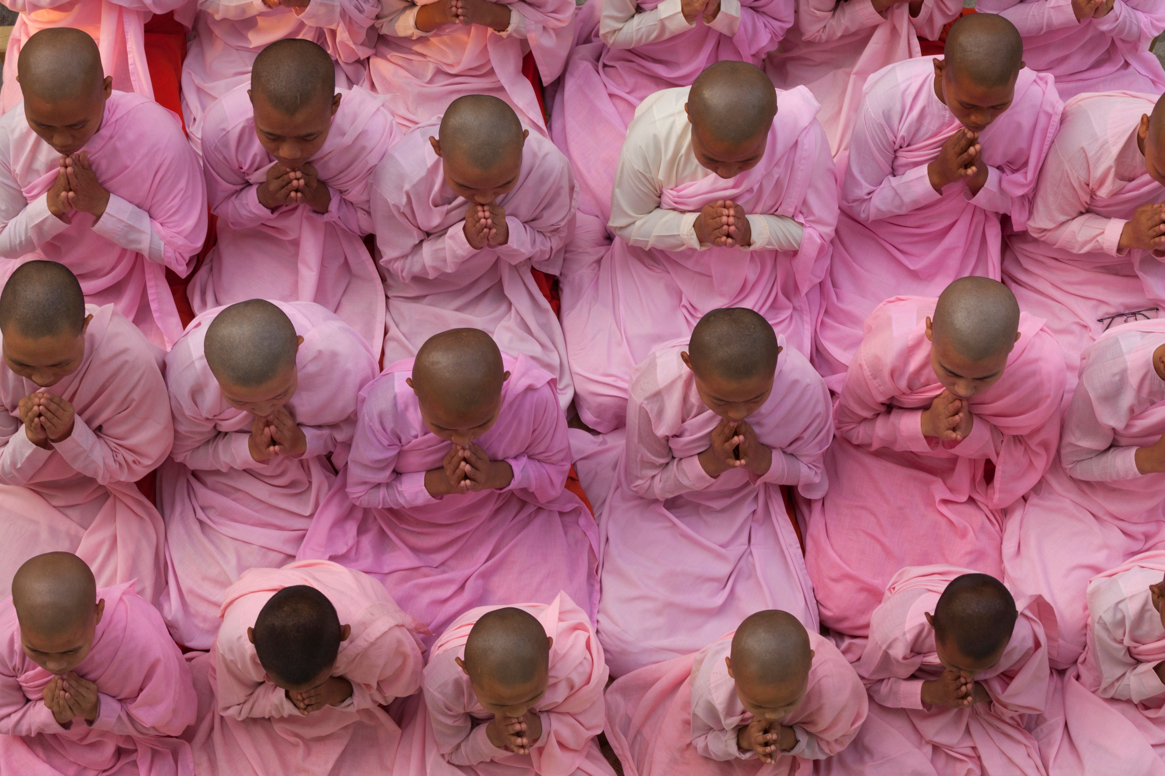 Buddhism in Burma (also known as Myanmar) is predominantly of the Theravada tradition, practiced by 89% of the country's population.