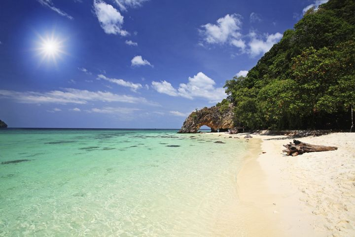 This natural, oceanfront arch is just a boat ride away from Koh Lipe, near the Tarutao National Marine Park.