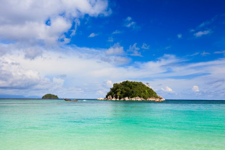 The view from Sunrise Beach on the tiny island features an even tinier island because Koh Lipe is perfect in every way.
