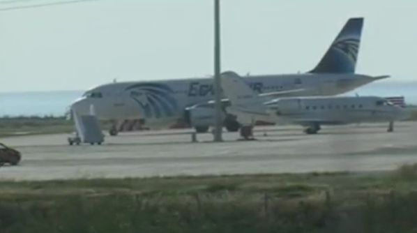 The Airbus A320 was taken overby at least one armed