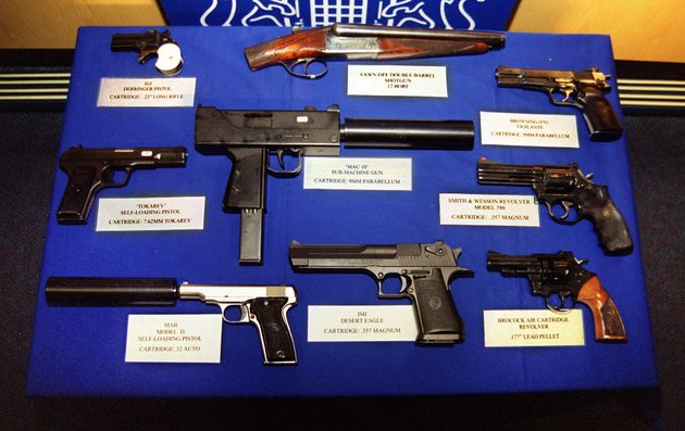 An arsenal of weapons seized in by police in