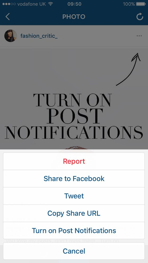 Instagram users beg followers to turn on post