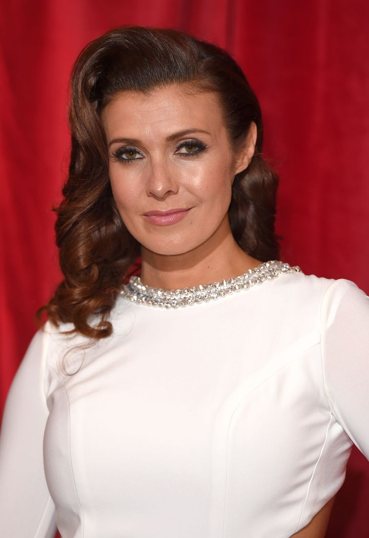 """Kym Marsh said her daughter was a """"brave little soldier""""."""