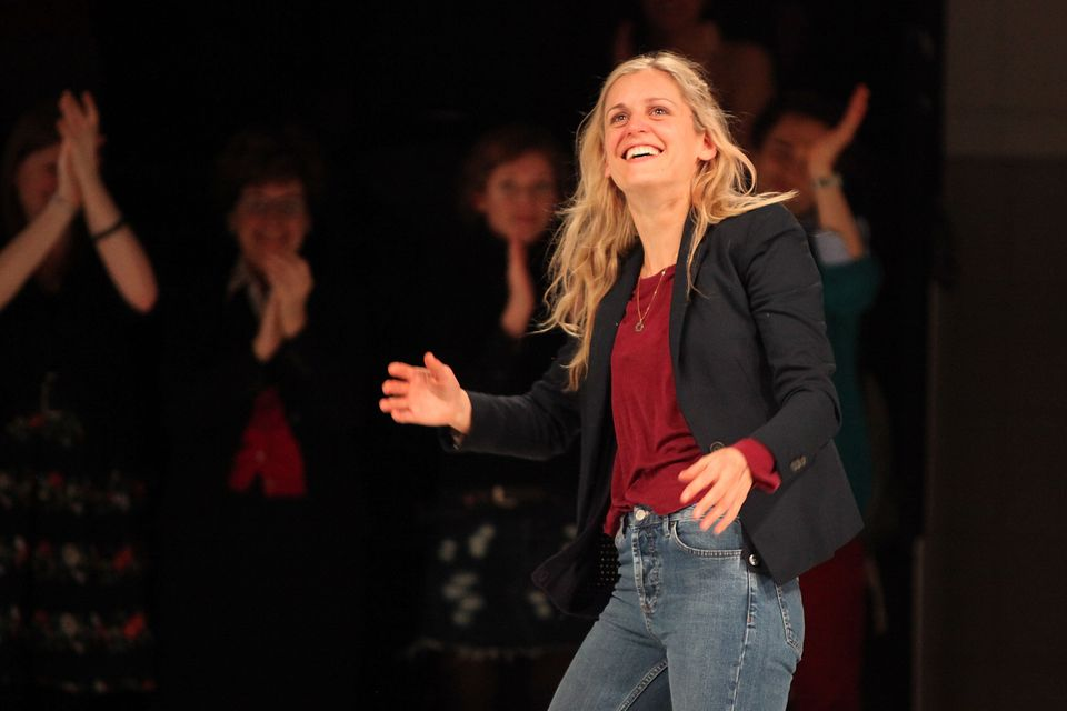 Denise Gough gets a standing ovation on the press night for People Places and