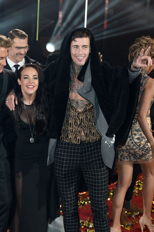 Stephanie and Jeremy at the 'CBB' final last