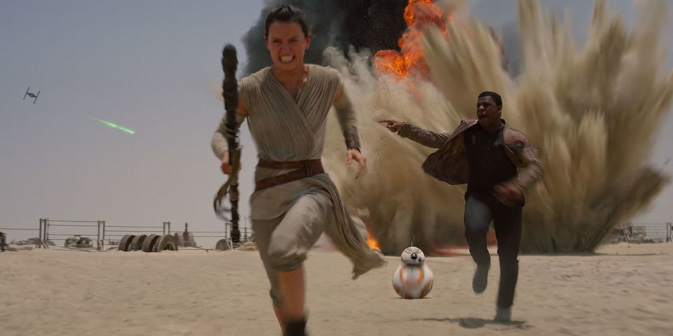Daisy Ridley and John Boyega in Star Wars: The Force