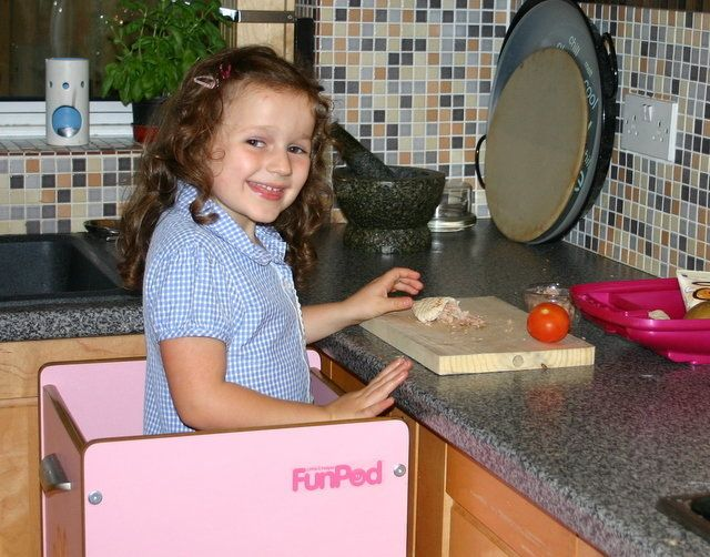 Aimee Johnson used the FunPod to help her mum cook from an early age
