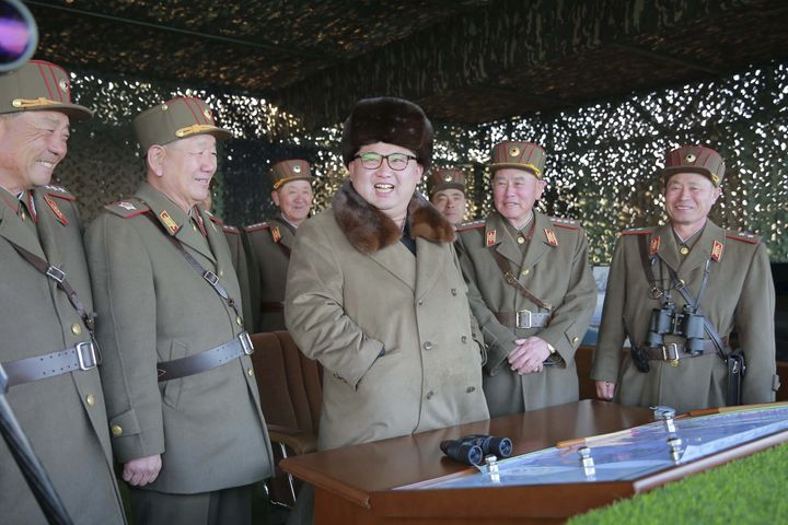 North Korea test fired a short-range missile on Tuesday.