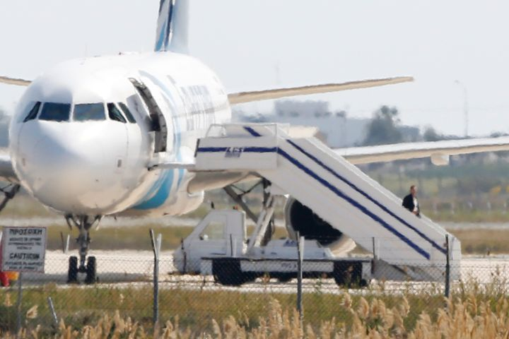 The passengers and crew onboard an EgyptAir plane, which was hijacked and forced to land in Cyprus, were freed unharmed