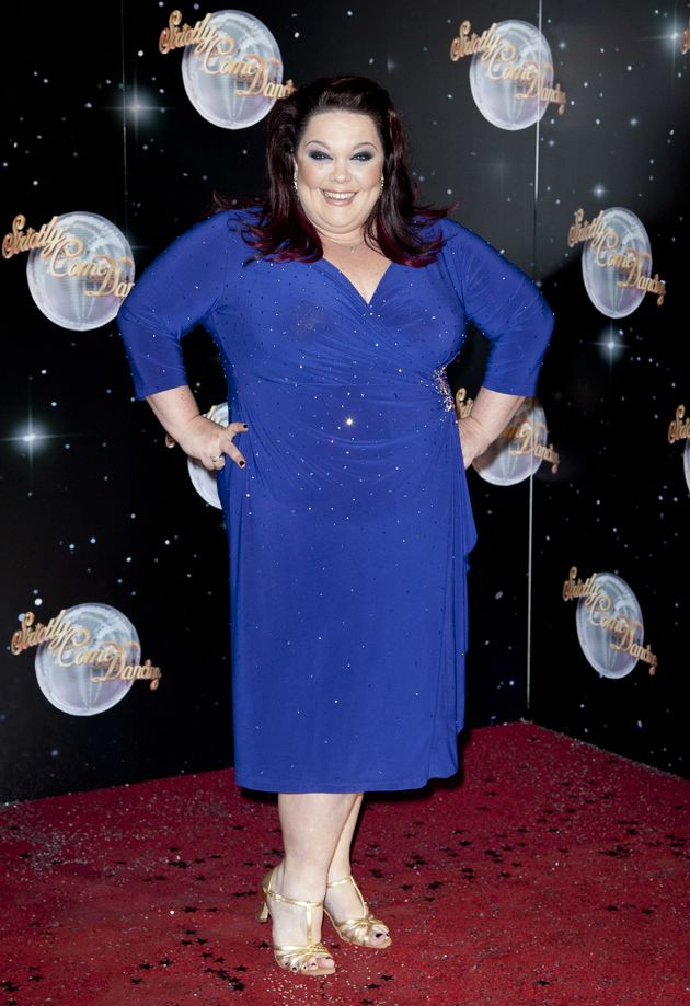 Lisa was six stone heavier when she signed up to 'Strictly' in