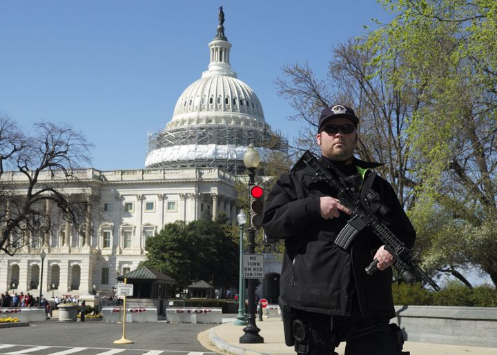 Larry Dawson was arrested for pulling a gun at the U.S. Capitol on Monday.