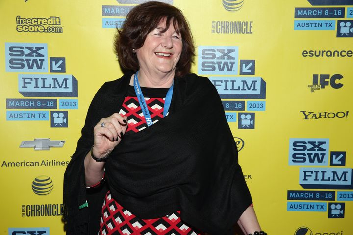 """Freda Kelly attends a screening of """"Gool Ol' Freda,"""" a documentary about her life as The Beatles' secretary."""