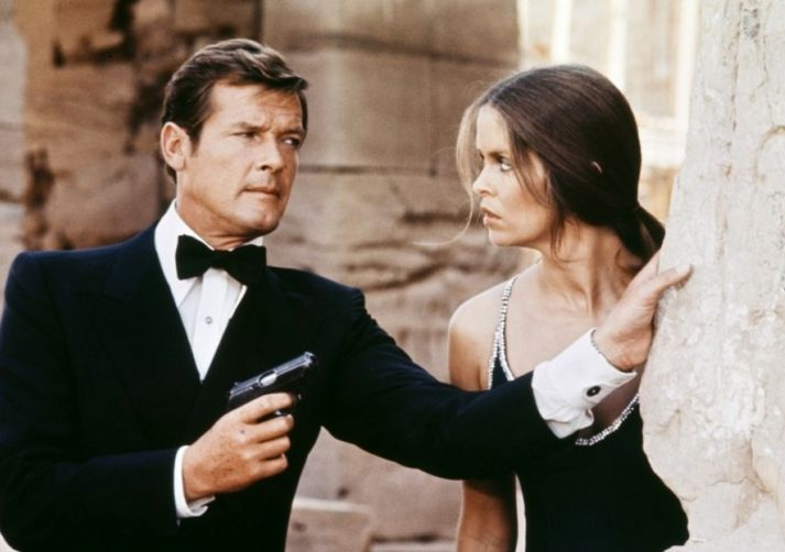 Roger Moore in 'The Spy Who Loved Me' with Barbara