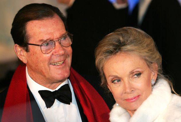 Sir Roger Moore with fourth wife