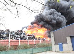 Huge Fire Breaks Out In Birmingham Scrapyard