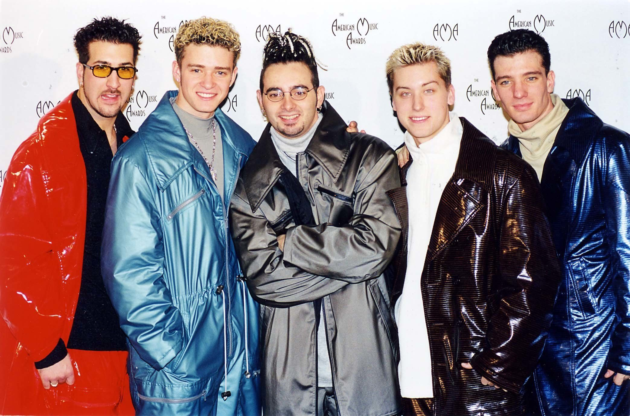 Joey Fatone, Justin Timberlake, Chris Kirkpatrick, Lance Bass and JC Chasez of n' Sync   (Photo by Jeff Kravitz/FilmMagic)
