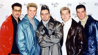 Joey Fatone, Justin Timberlake, Chris Kirkpatrick, Lance Bass and JC Chasez of n' Sync   (Photo by Jeff Kravitz/FilmMagic)