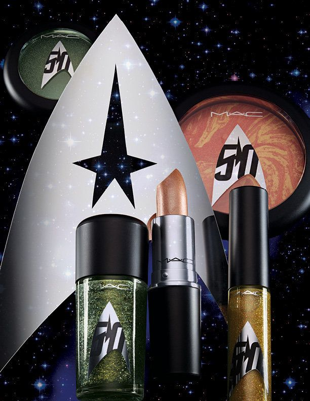 Details for MAC's Star Trek 25 multi-piece collection are still scarce, but we do know it will launch globally this September and include lip colors, eye shadows and nail polishes.