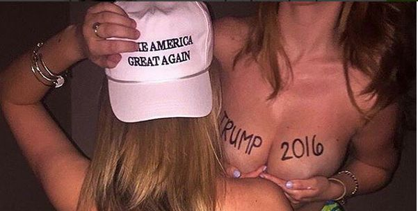 An image featured on Babes For Trump.