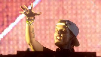 MIAMI, FL - MARCH 27:  Avicii performs during the Ultra Music Festival at Bayfront Park Amphitheater on March 27, 2015 in Miami, Florida.  (Photo by Tim Mosenfelder/Getty Images)