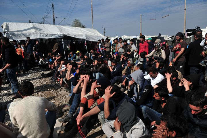 Despite calls from Greek authorities to relocate to reception centers, many migrants and refugees have remained in Idomeni, h