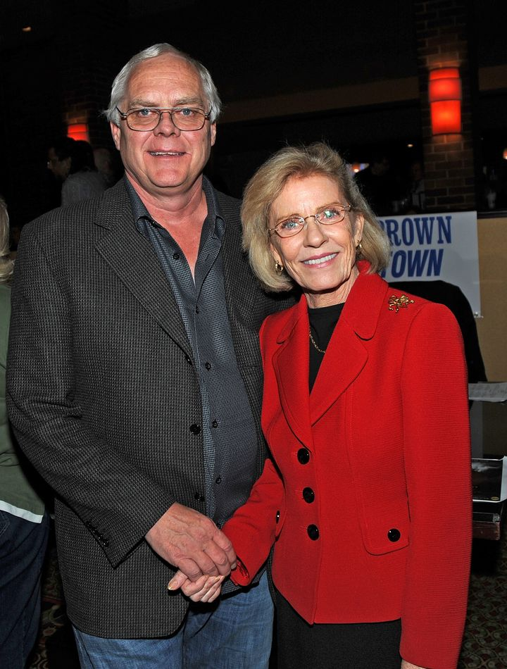 Patty Duke and her husband Michael Pearce attend Day 1 of the 2010 Chiller Theatre Expo at Hilton on October 29, 2010.