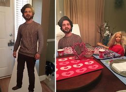 Guy Sends Mom A Cutout Of Himself As A Joke — Mom Totally Runs With It