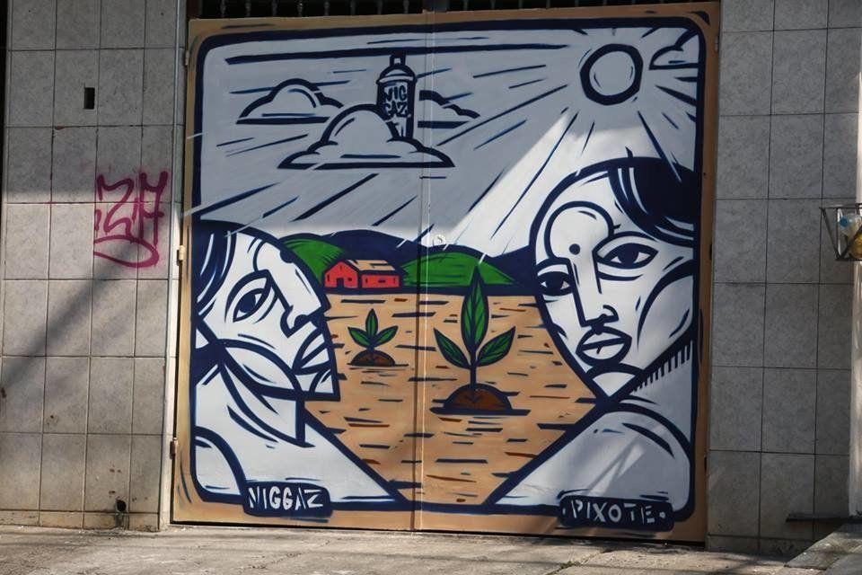 Mural by Pixote.
