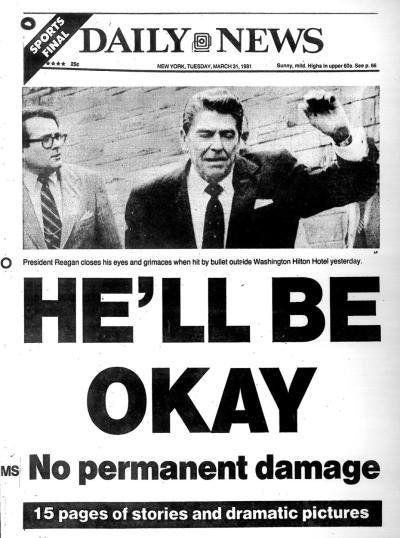Image result for president reagan was shot