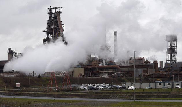 A general view shows the Tata steelworks in Port Talbot, Wales, Britain January 18,