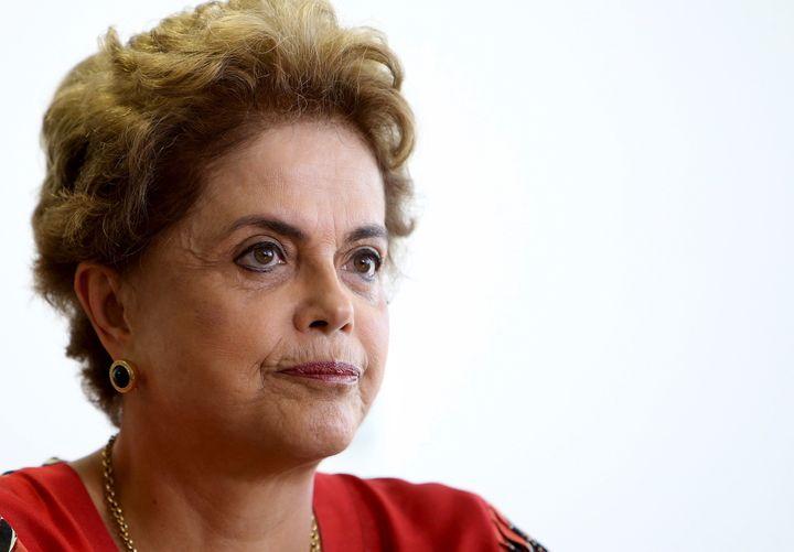 Brazil's President Dilma Rousseff at her office in Brasilia, Brazil, March 29, 2016.