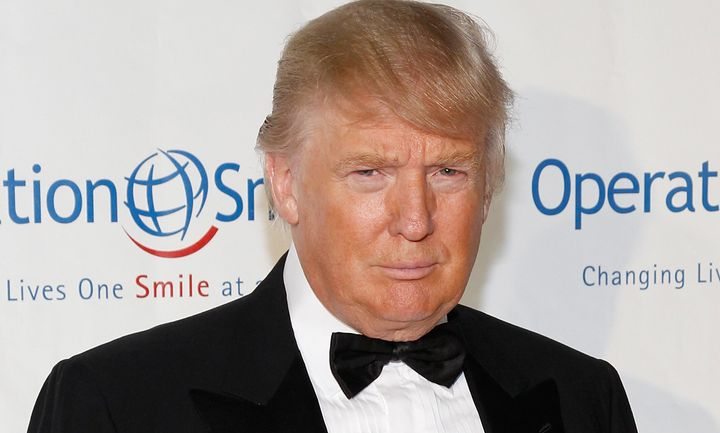 Like the fictional spy hero James Bond, Donald Trump wears tuxedos and has a healthy fear of pen grenades. Photo: Mark V