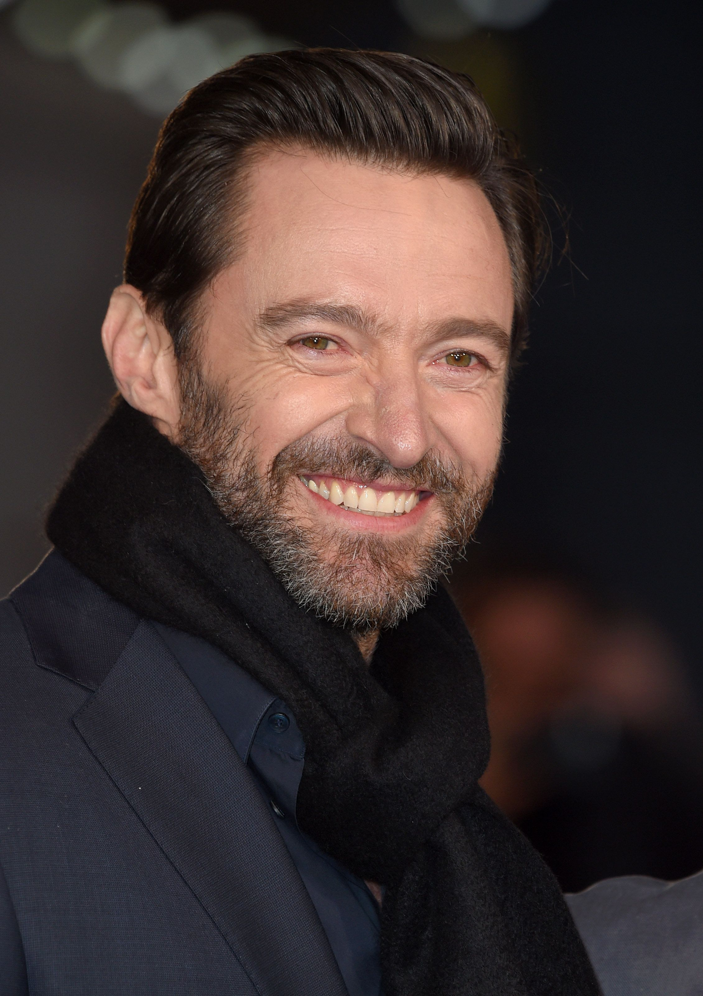 LONDON, ENGLAND - MARCH 17:  Hugh Jackman arrives for the European premiere of 'Eddie The Eagle' at Odeon Leicester Square on March 17, 2016 in London, England.  (Photo by Karwai Tang/WireImage)