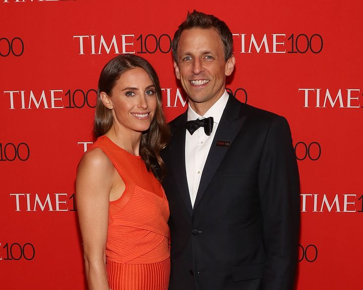 Seth Meyers' wife Alexi gave birth to their son on Sunday, March 27.