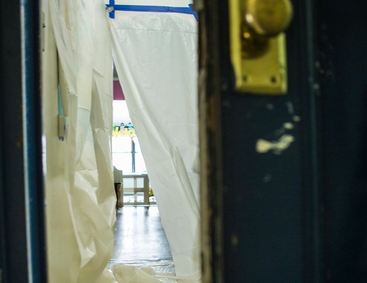 An in-home day care in New York Cityis sealed off before contractors proceed with lead paint abatement. In 2012, NYC ho